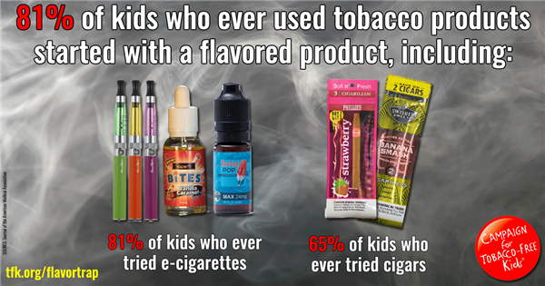 81% of kids who ever used tobacco products started with a flavored product